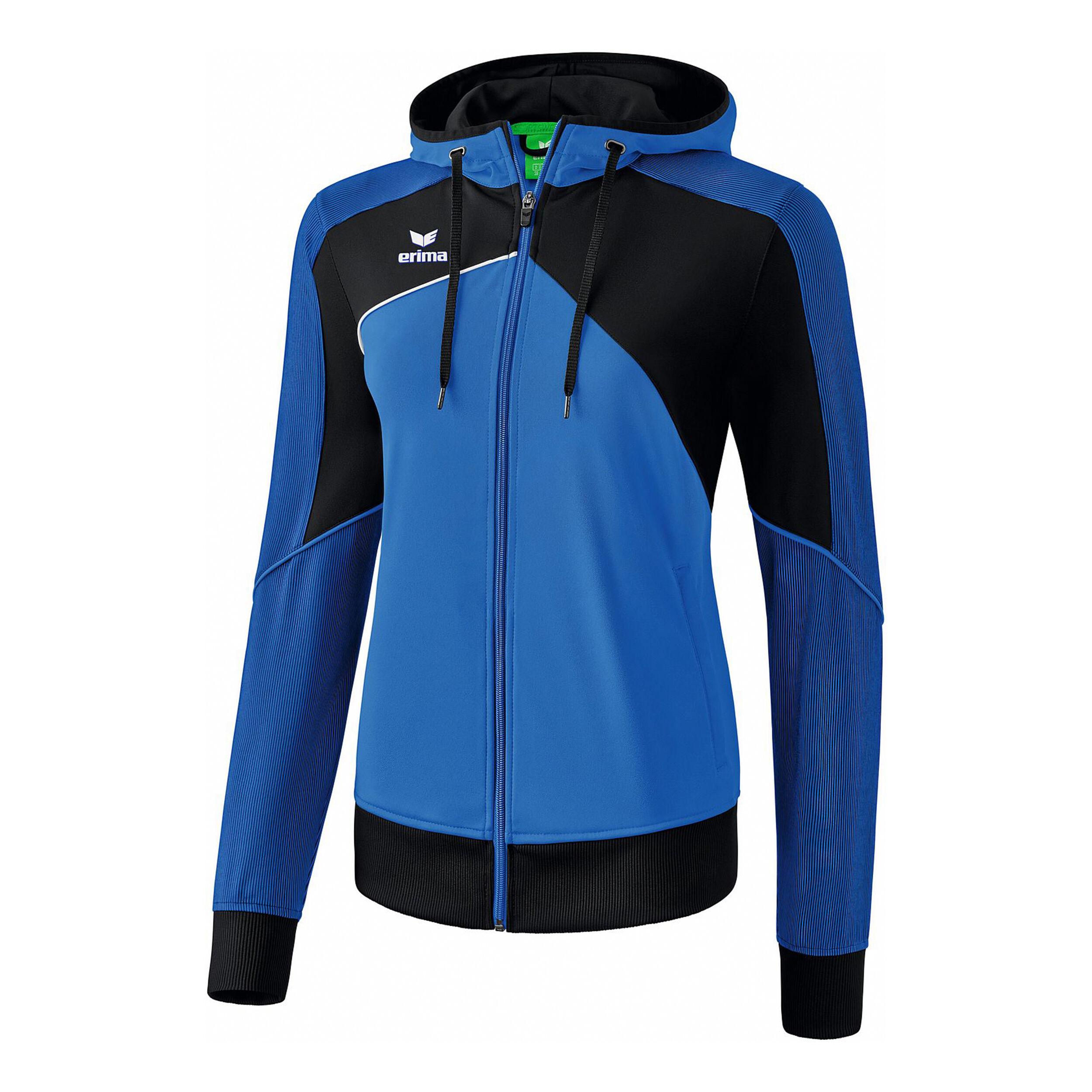 Erima Premium One 2.0 Trainingsjacke Damen Blau, Schwarz