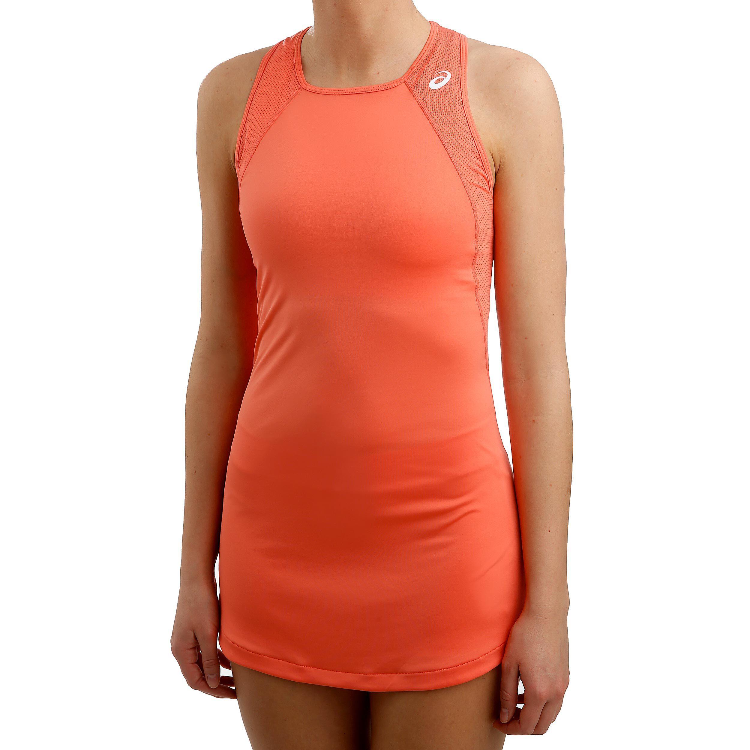 Asics Club Kleid Damen Koralle, Weiß online kaufen