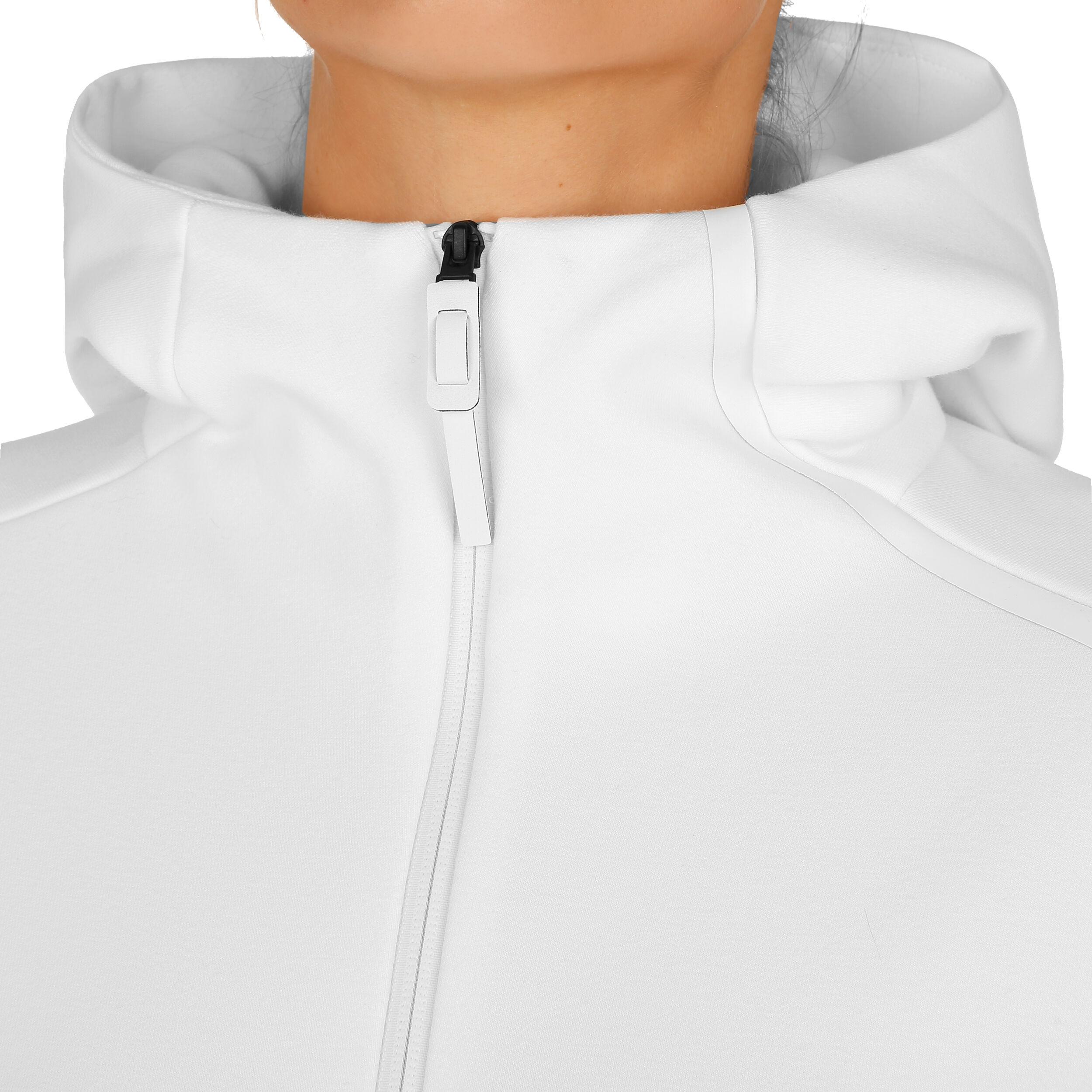 adidas Z.N.E. Hoodie Sweatjacke Damen Weiß, Hellgrau