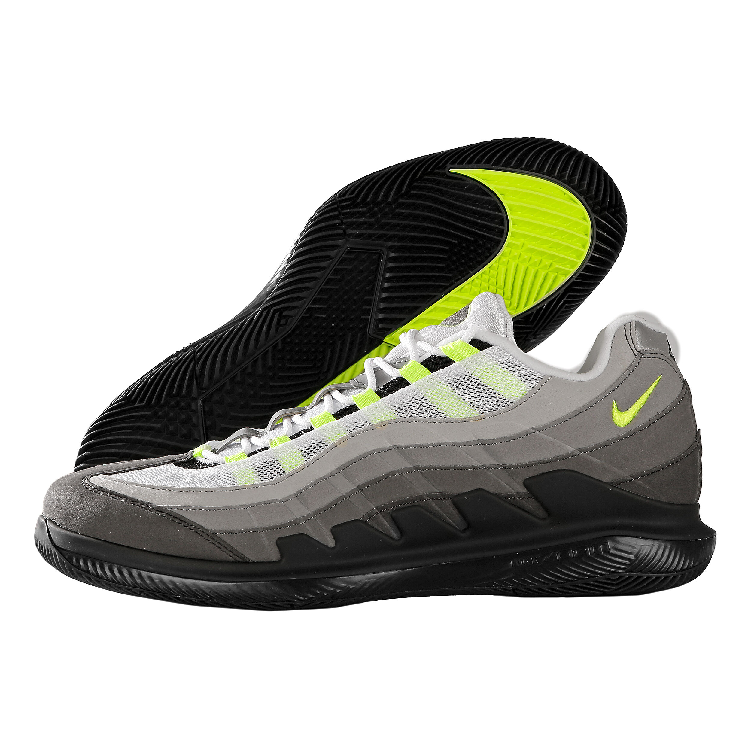 Nike Roger Federer Vapor X Air Max 95 Neon Allcourtschuh