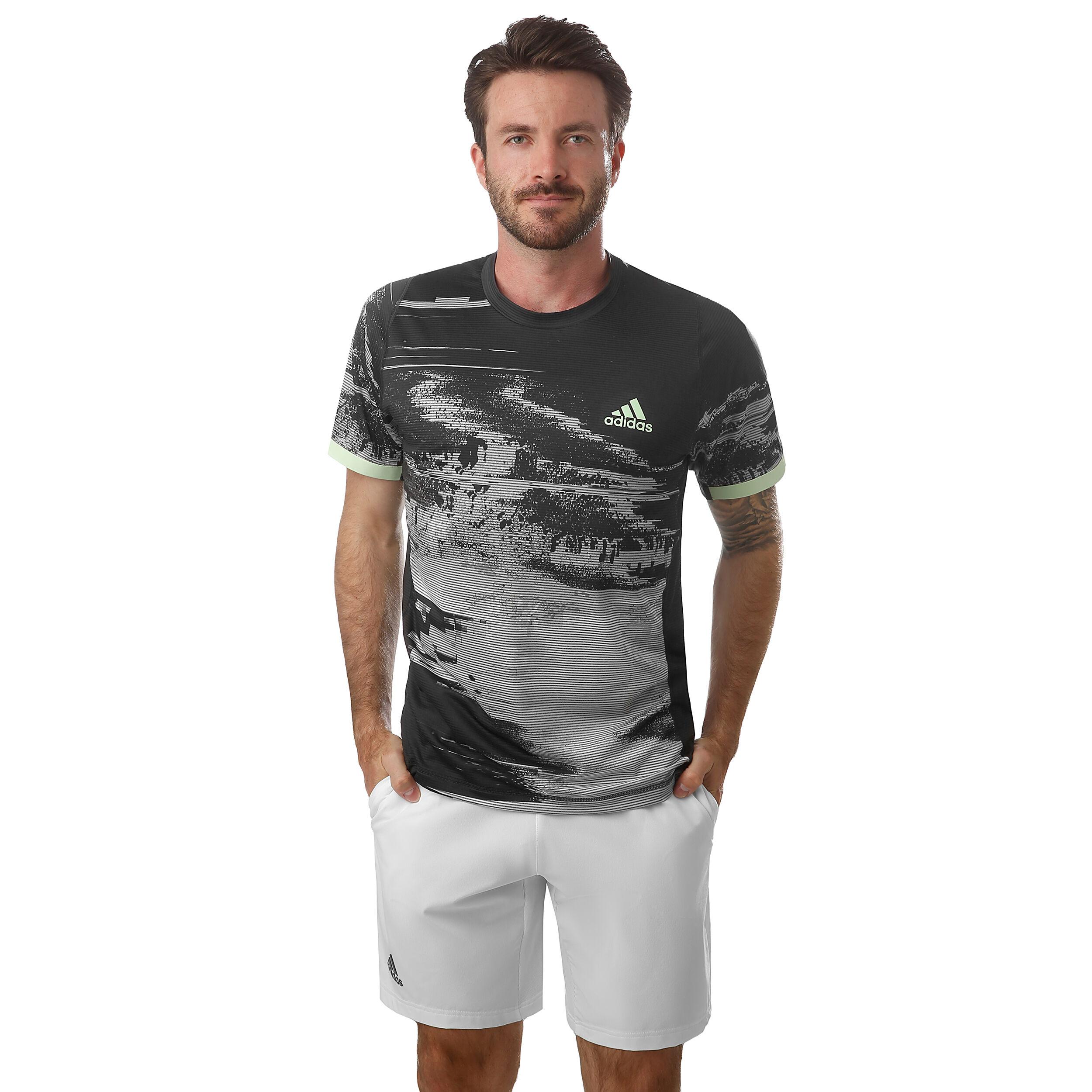 adidas New York Printed T Shirt Herren Dunkelgrau, Grau