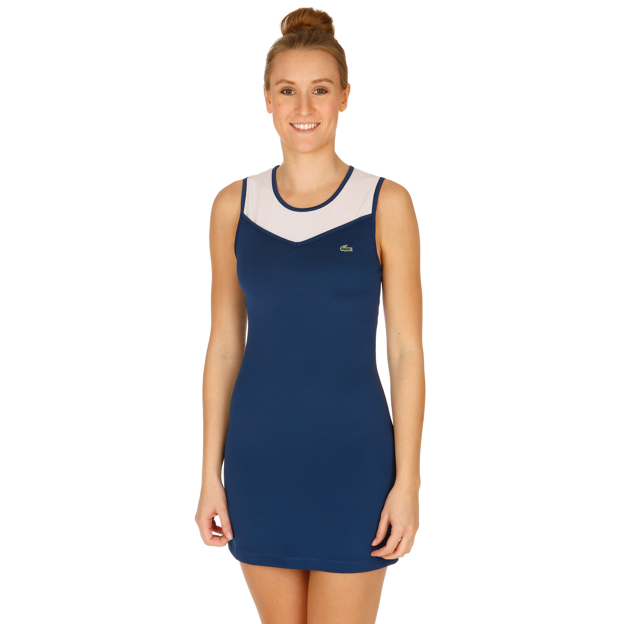 Lacoste Kleid Damen - Dunkelblau, Weiß online kaufen ...
