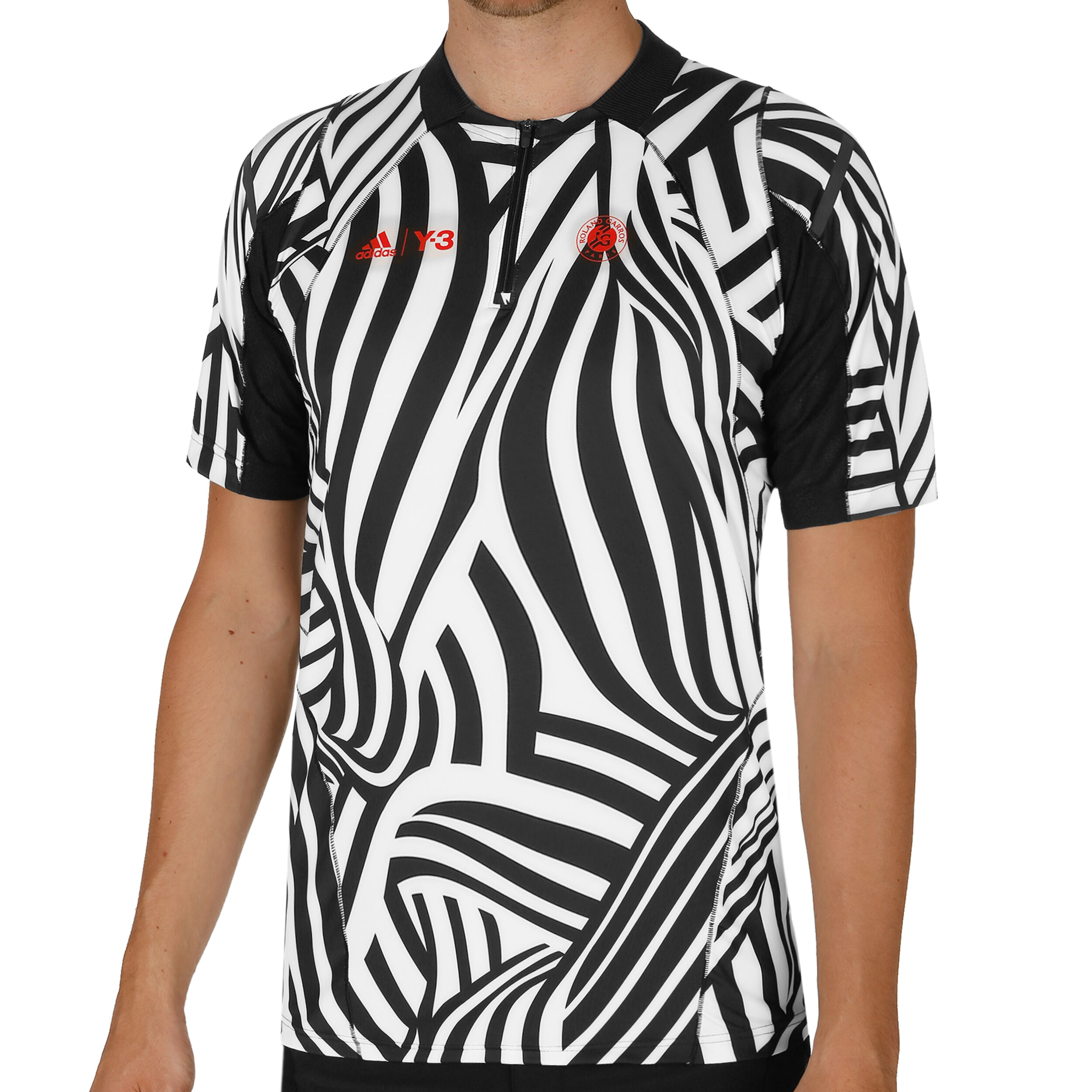 adidas Roland Garros Y 3 T Shirt Herren Weiß, Schwarz