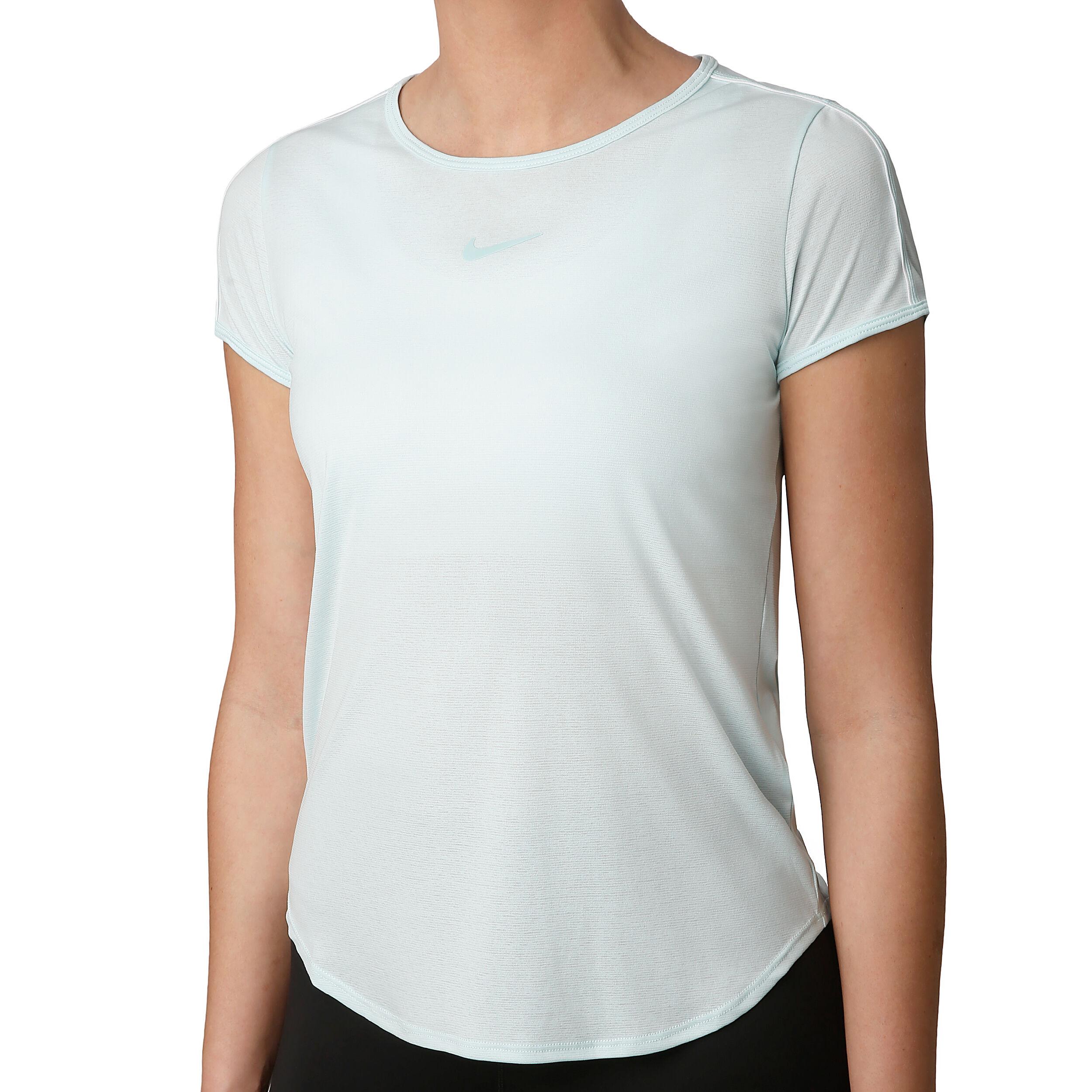 Nike Court Dry T Shirt Damen Mint, Weiß online kaufen