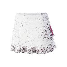 Splatter Ruched Tier Skirt