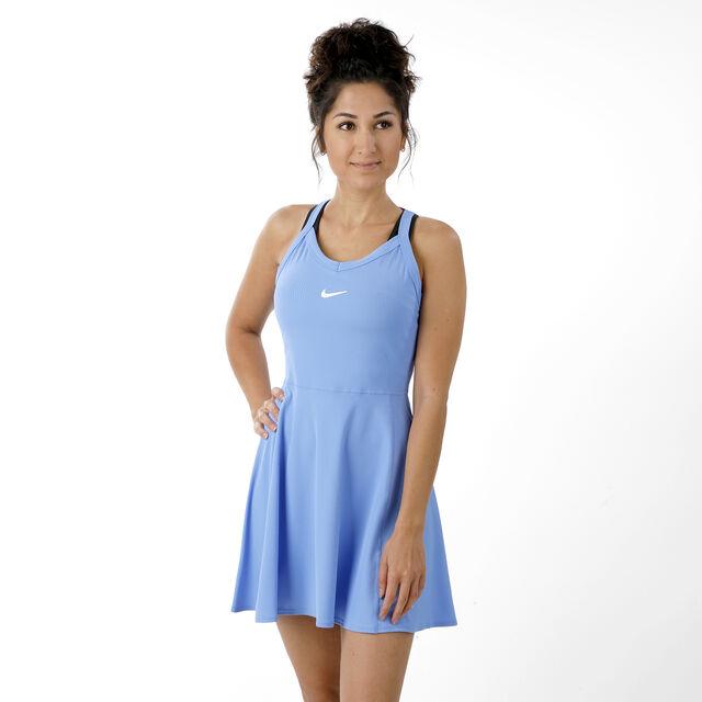 Nike Court Dry Kleid Damen - Hellblau, Weiß online kaufen ...