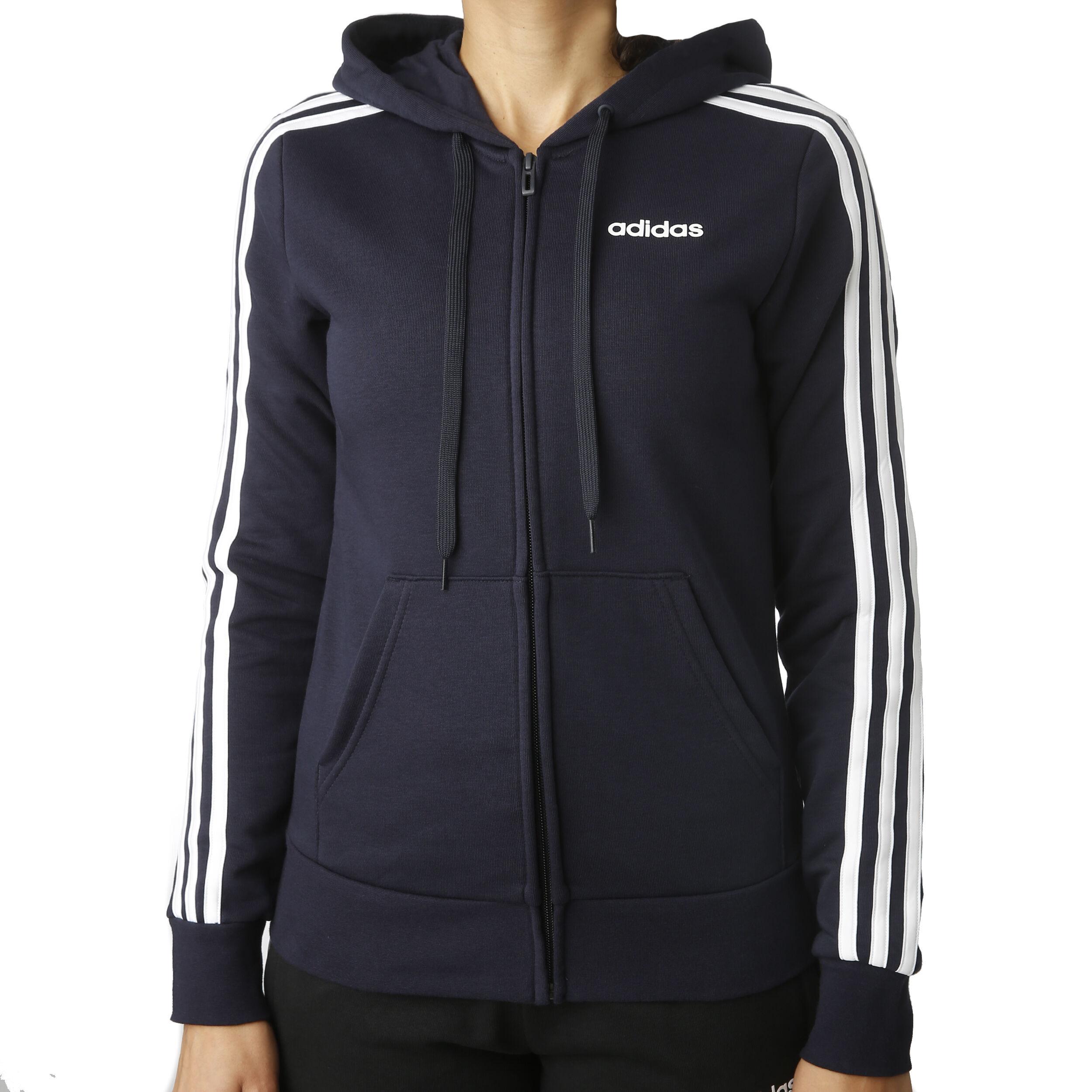 adidas Essentials 3 Stripes Sweatjacke Damen Dunkelblau