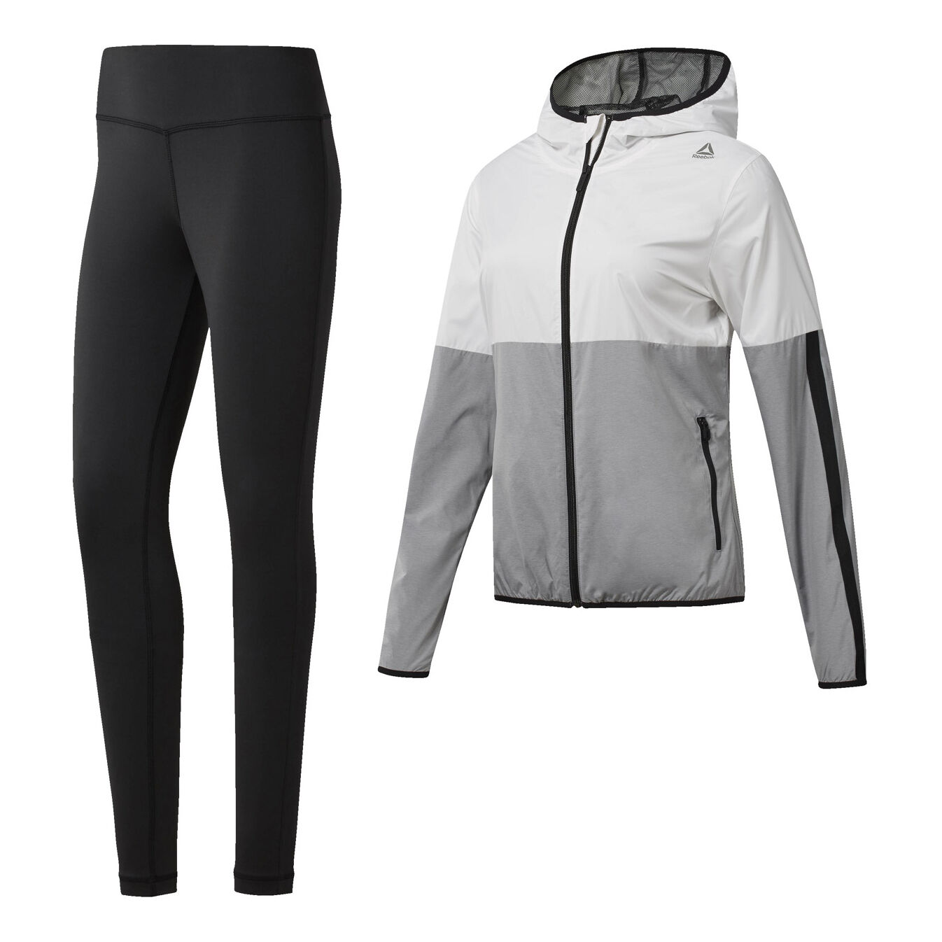 Reebok Elements Sport Trainingsanzug Damen Weiß, Hellgrau