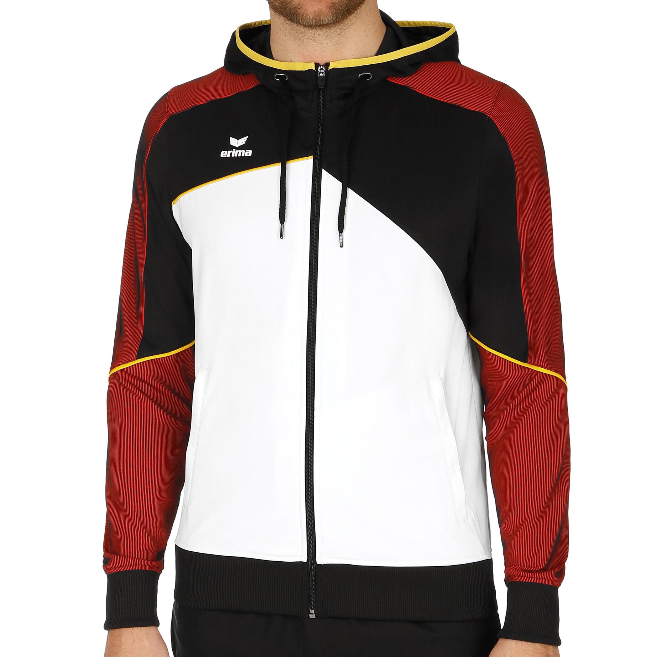 Erima Premium One 2.0 Trainingsjacke Herren Weiß, Schwarz