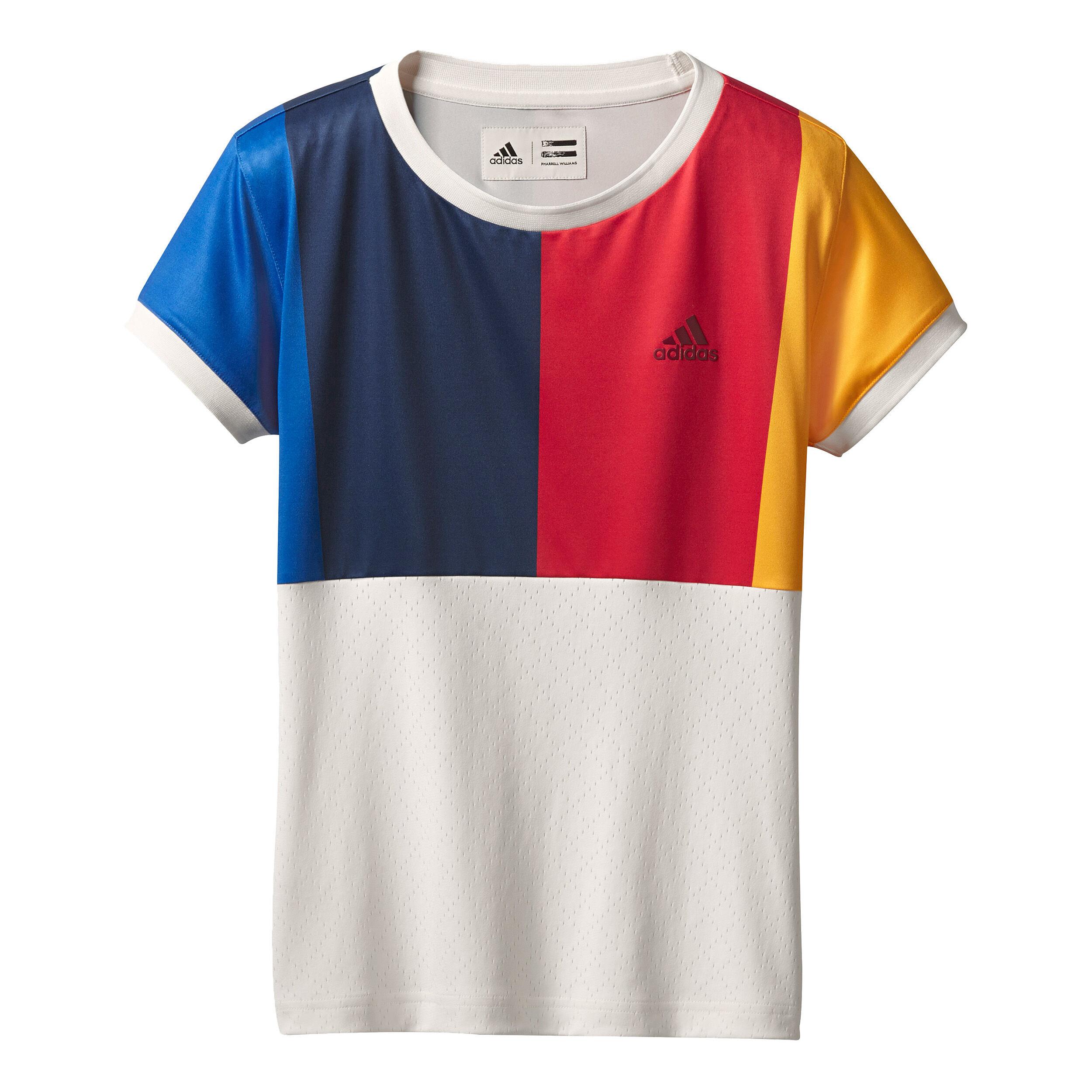 adidas New York T Shirt Damen Creme, Blau online kaufen