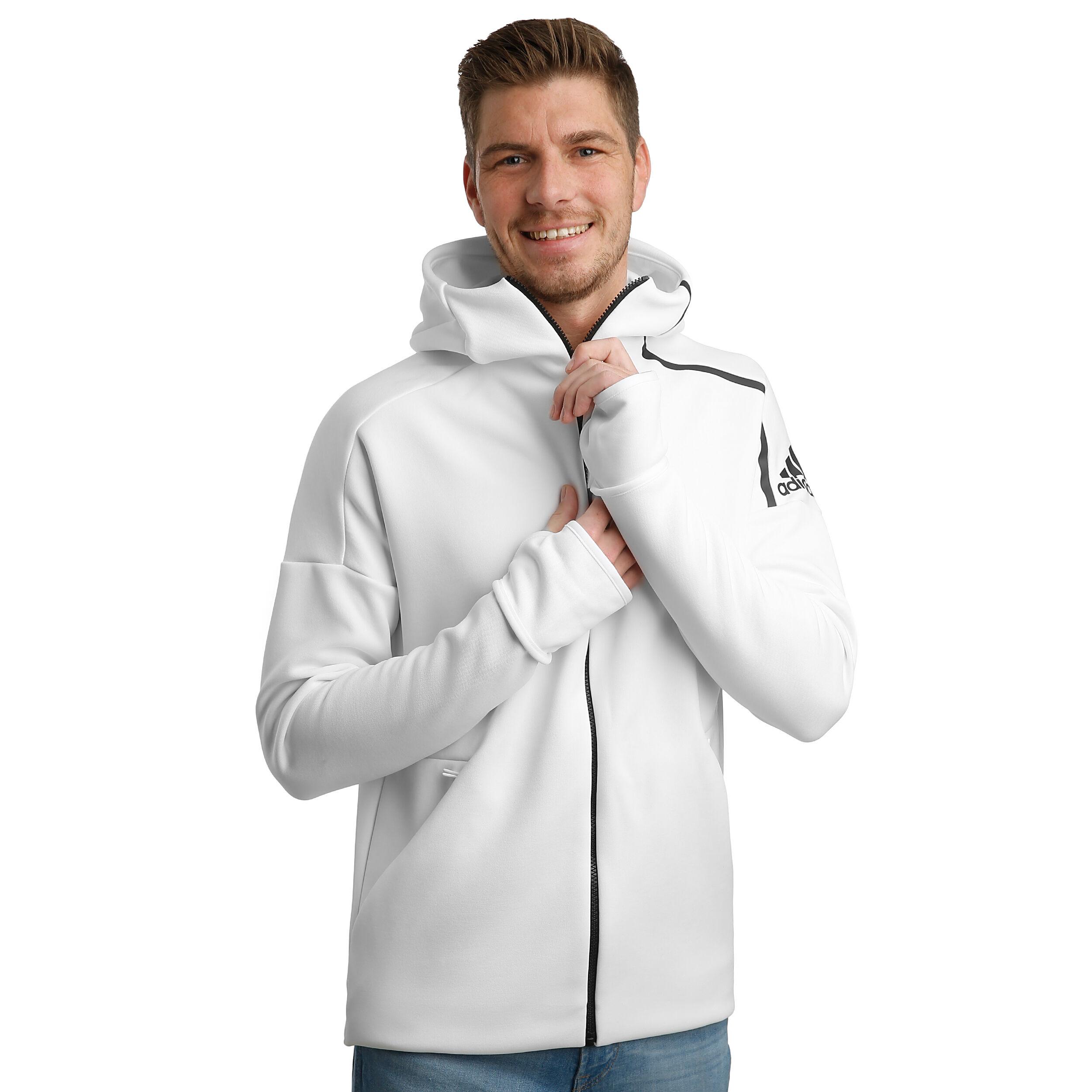 adidas Z.N.E. Fast Release Zipper Sweatjacke Herren Weiß