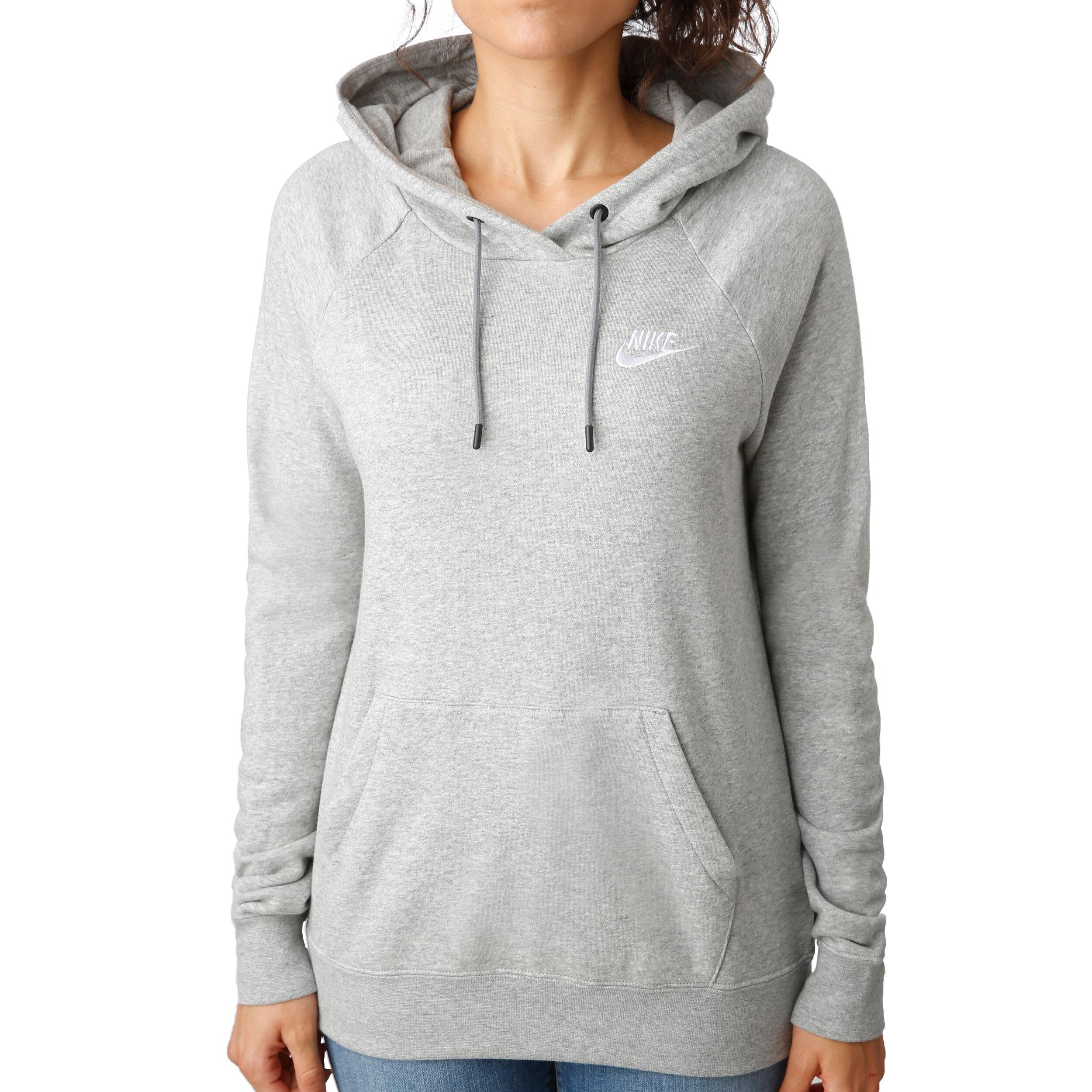 Nike Sportswear Essential Hoody Damen Hellgrau, Weiß