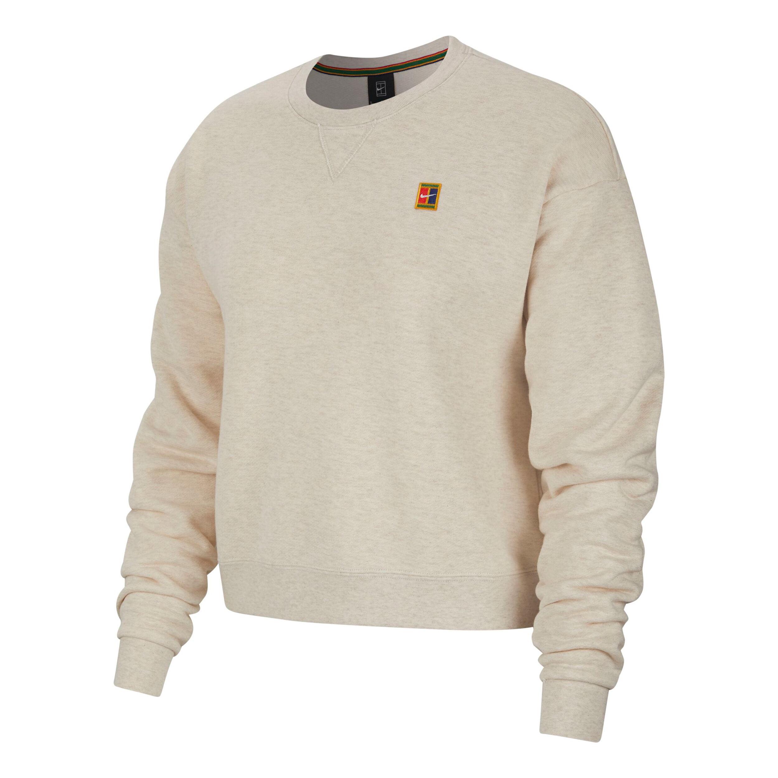 Nike Court Crew Heritage Sweatshirt Damen Weiß, Mehrfarbig