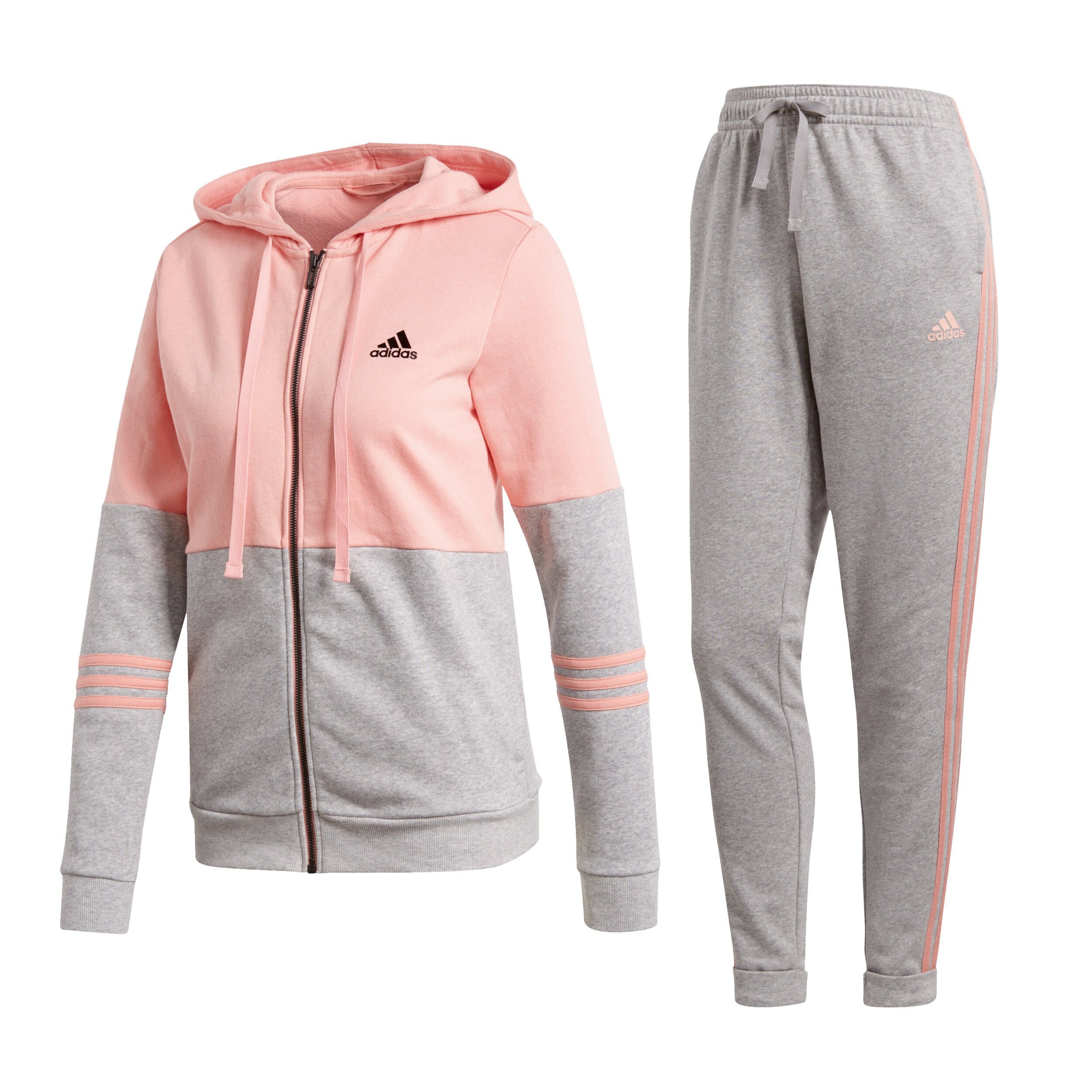 adidas Co Energize Trainingsanzug Damen Rosa, Hellgrau