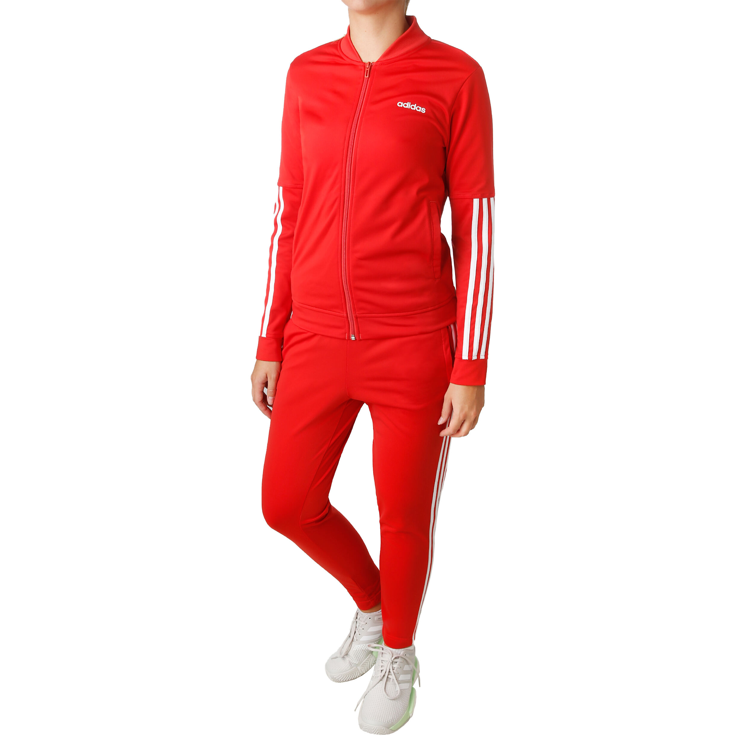 adidas Back2Basic 3 Stripes Trainingsanzug Damen Hellrot