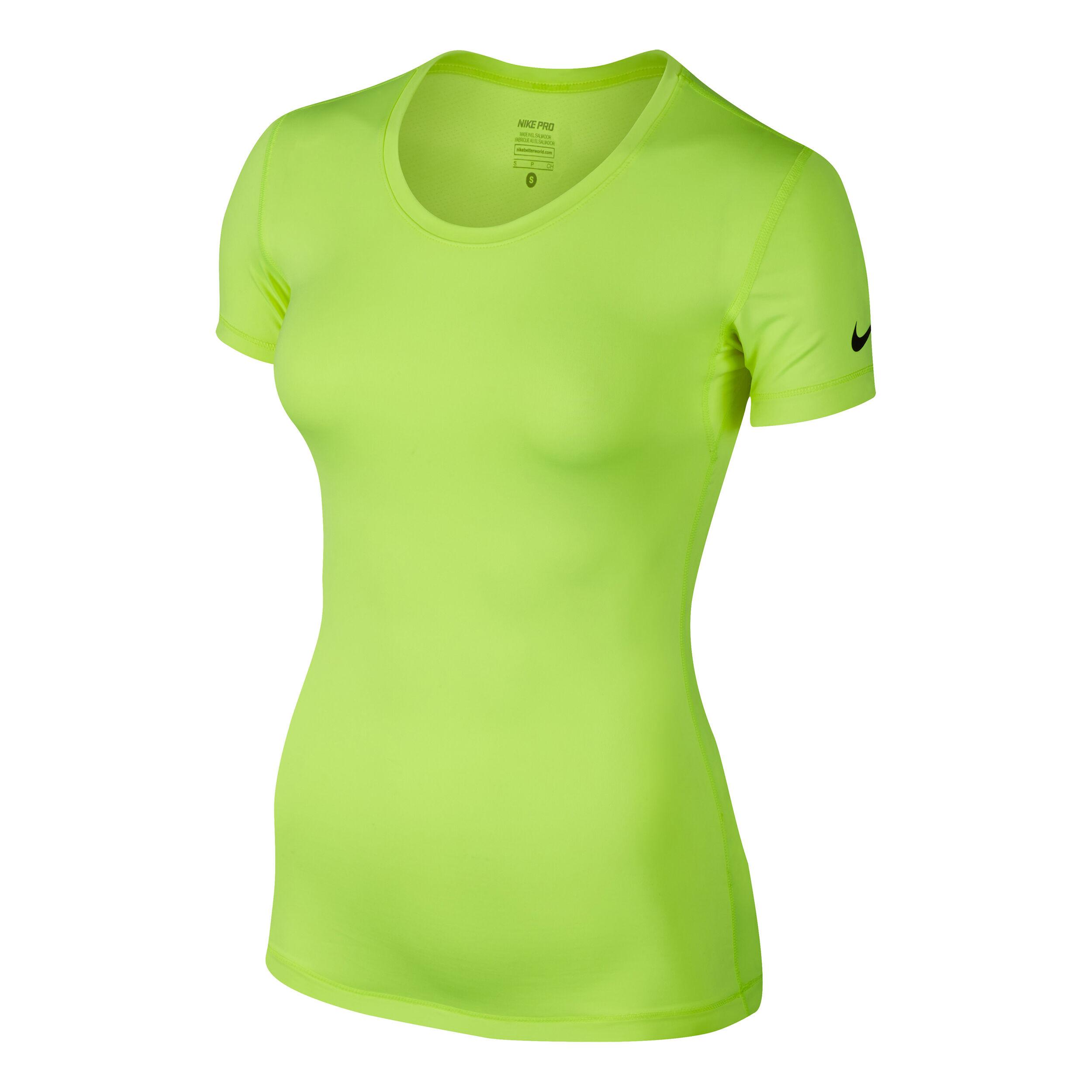 Nike Pro Cool T Shirt Damen Neongelb, Schwarz online