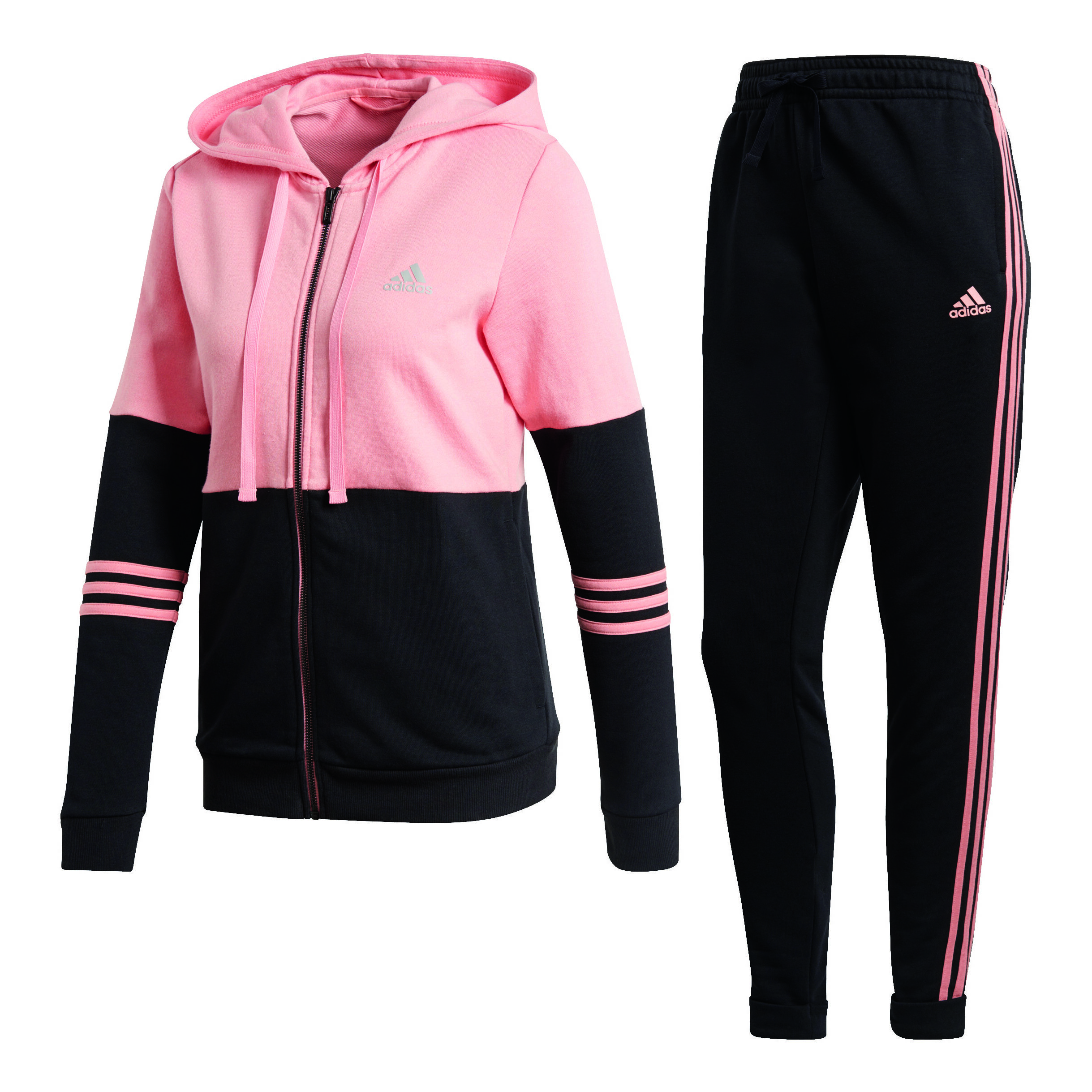 adidas Co Energize Trainingsanzug Damen Rosa, Schwarz