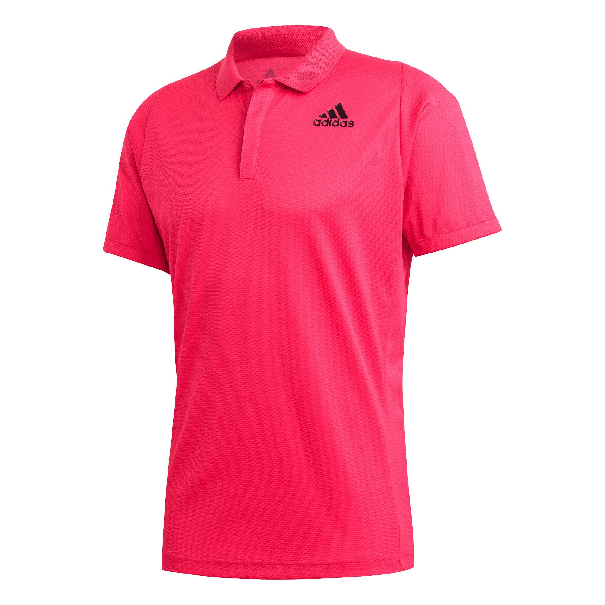 adidas Freelift Heat Ready Polo Herren Pink, Schwarz