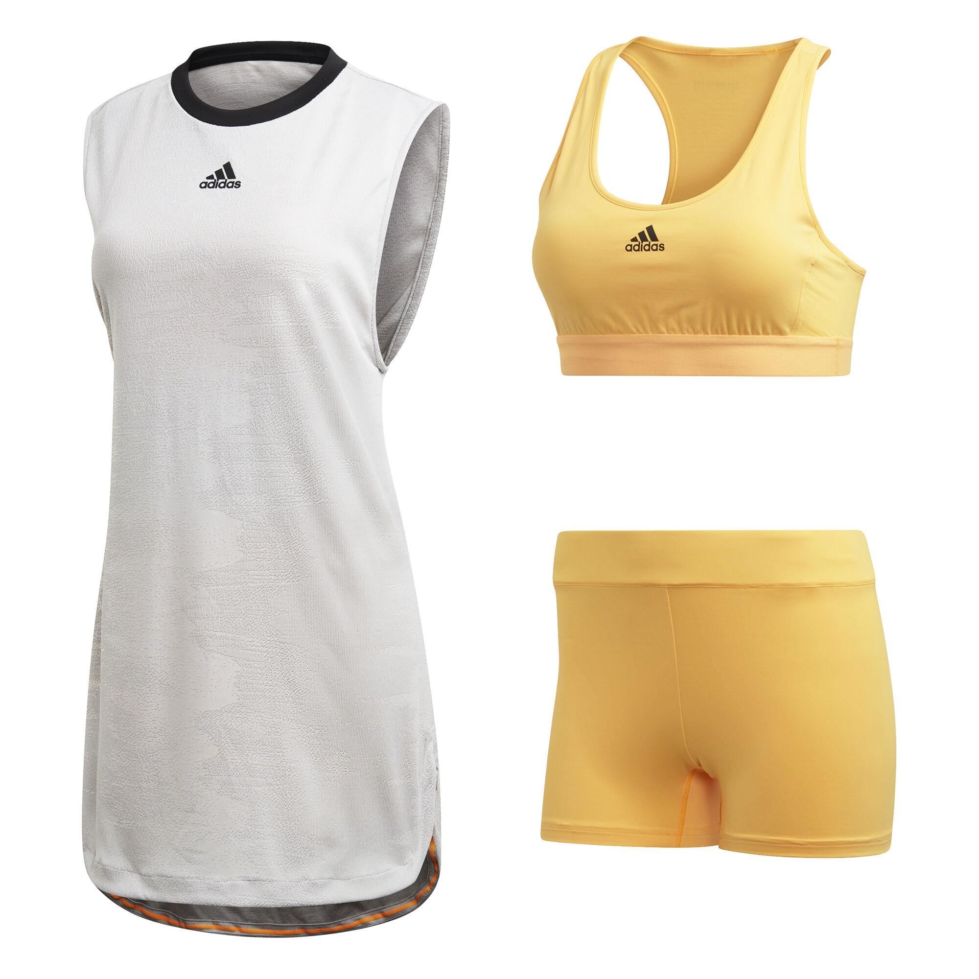 adidas New York Kleid Damen - Hellgrau, Gelb online kaufen ...