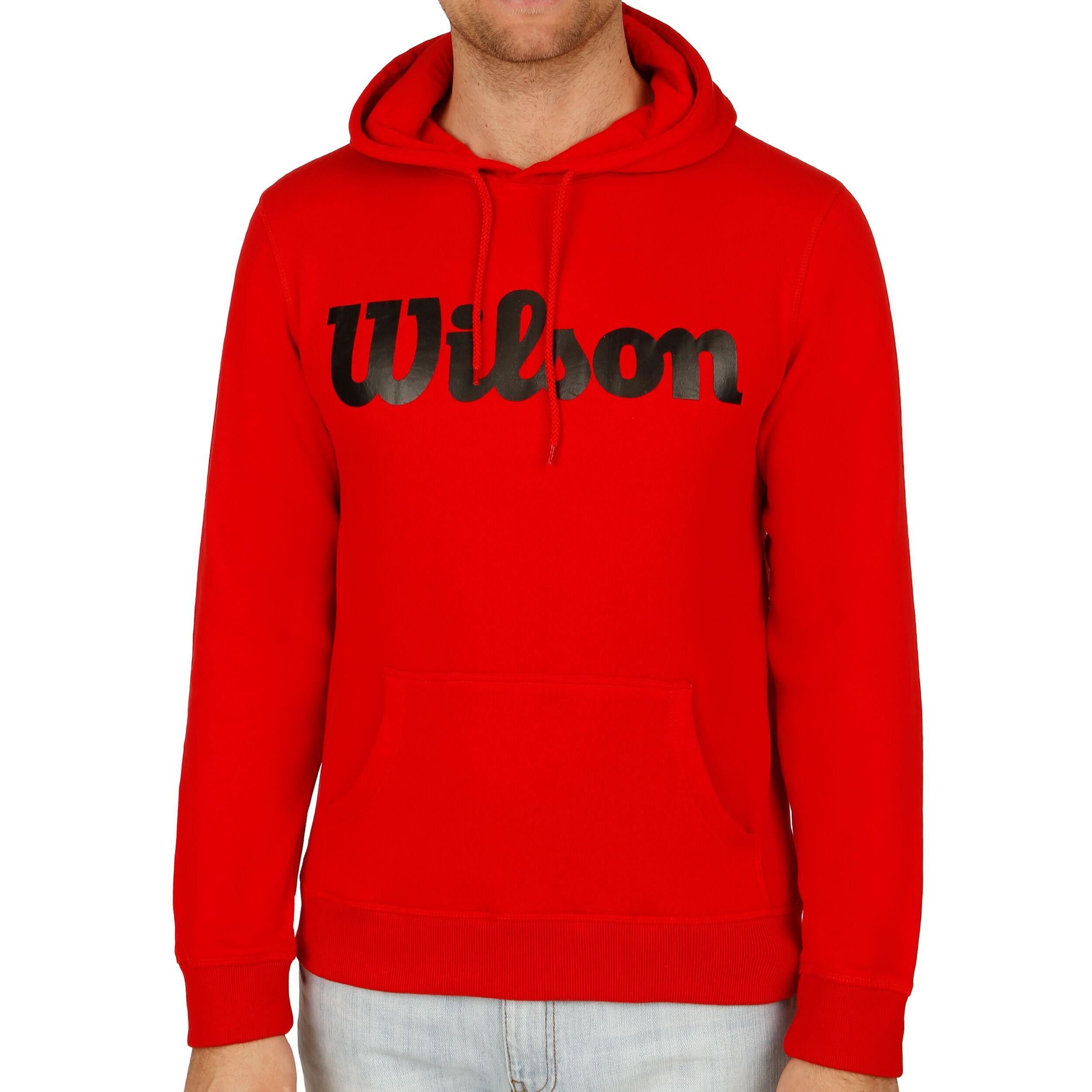 Wilson Script Cotton Po Hoody Herren Rot, Schwarz online