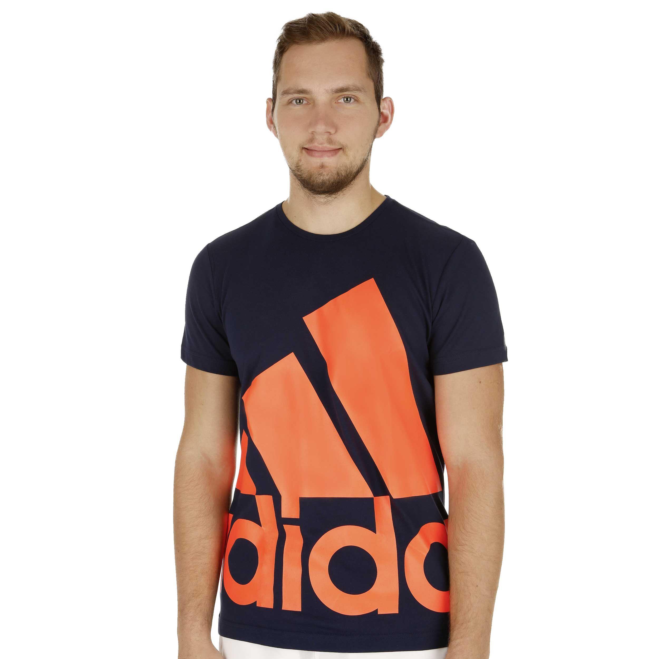 adidas Essentials Big Logo T Shirt Herren Dunkelblau