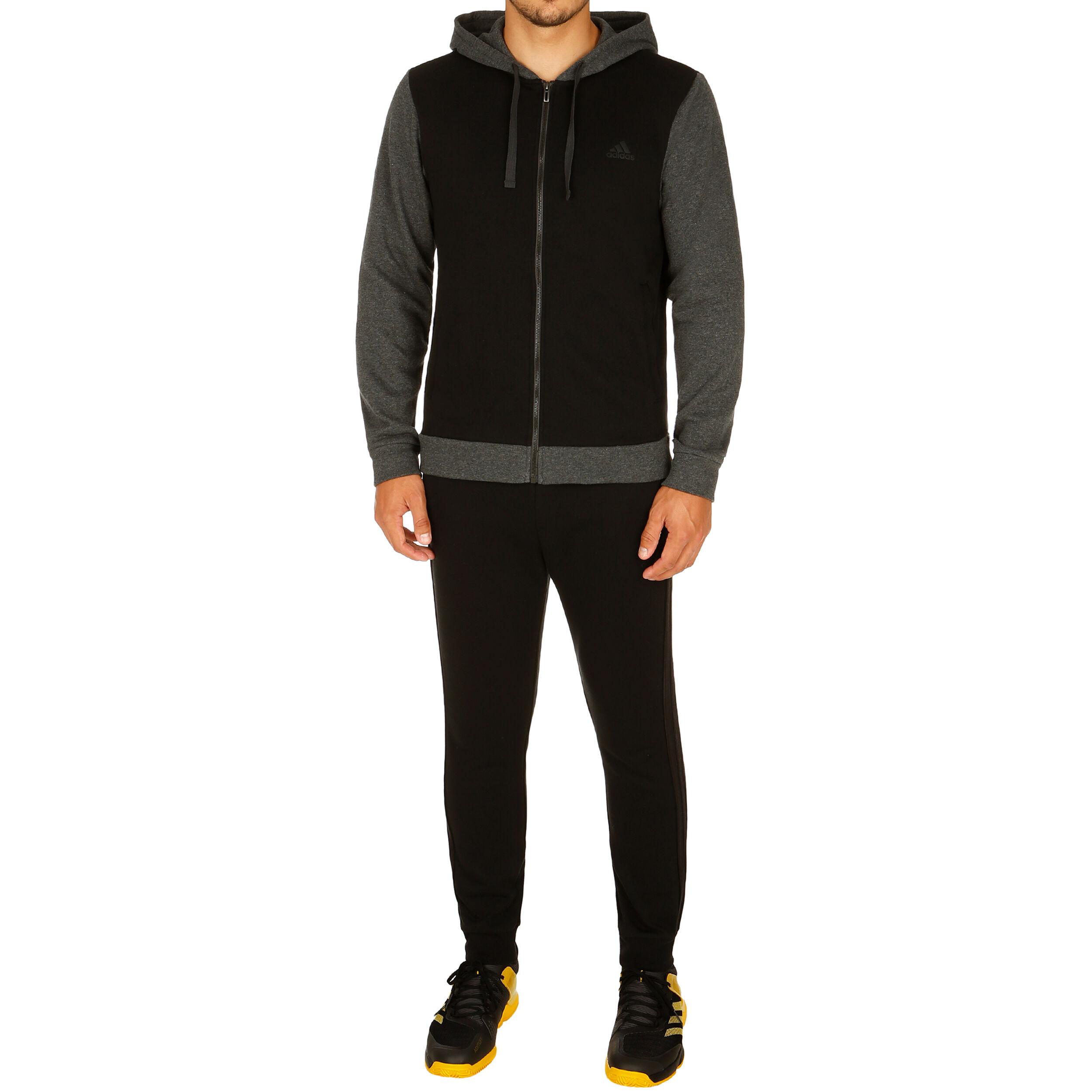 adidas Cotton Energize Trainingsanzug Herren Dunkelgrau