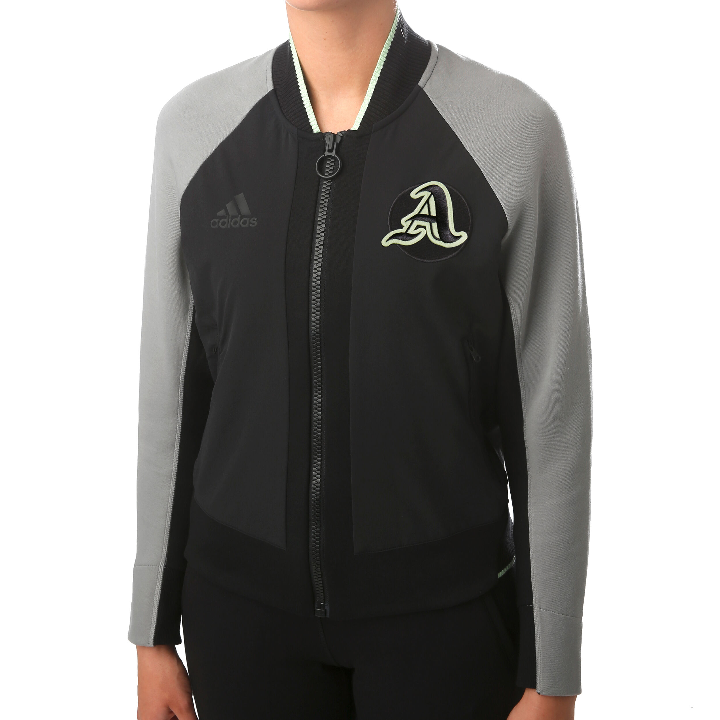 New York City Woven Trainingsjacke Damen Schwarz, Weiß