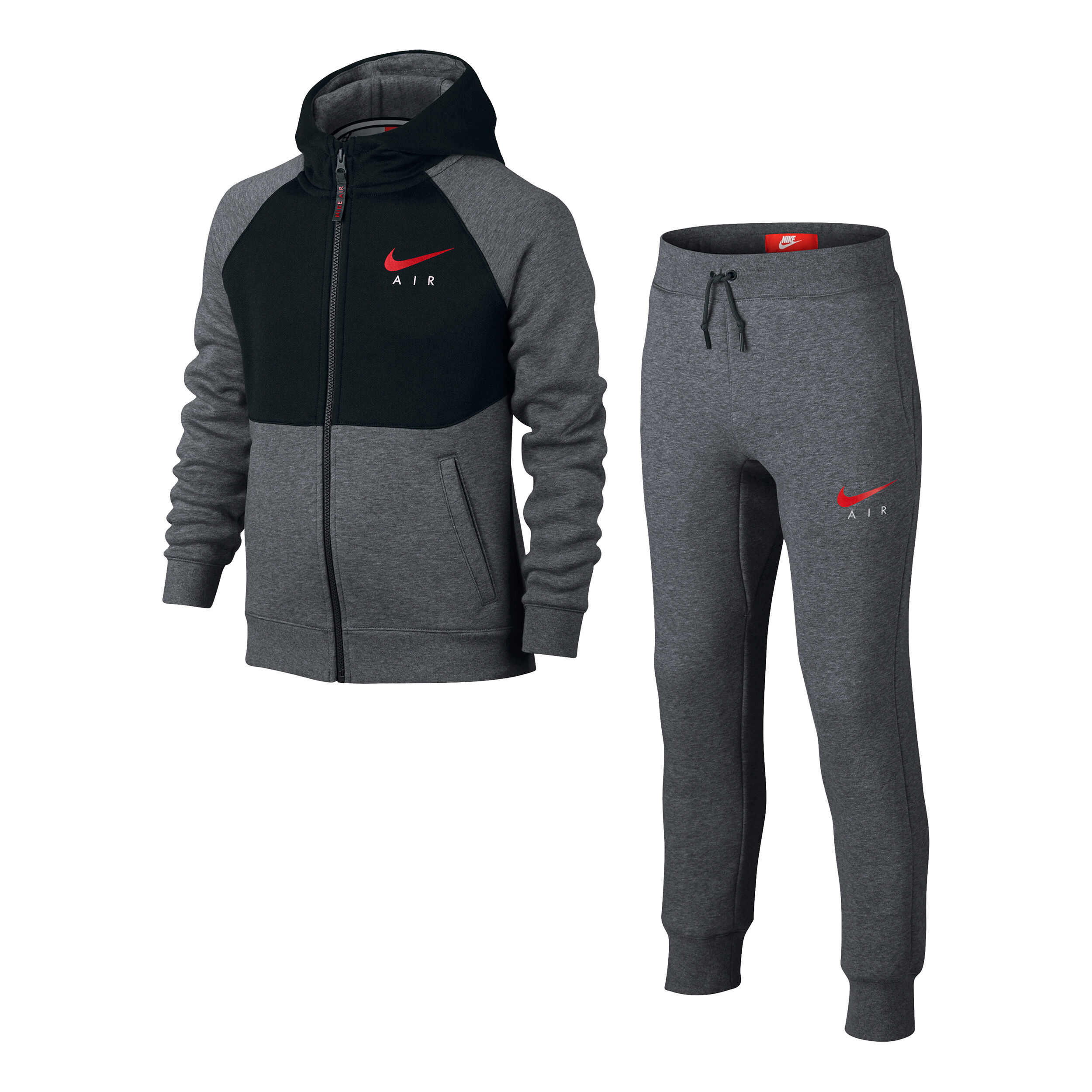Details zu Nike Air Vlies Trainingsanzug Herren Schwarz Fleece Jacke + Hose