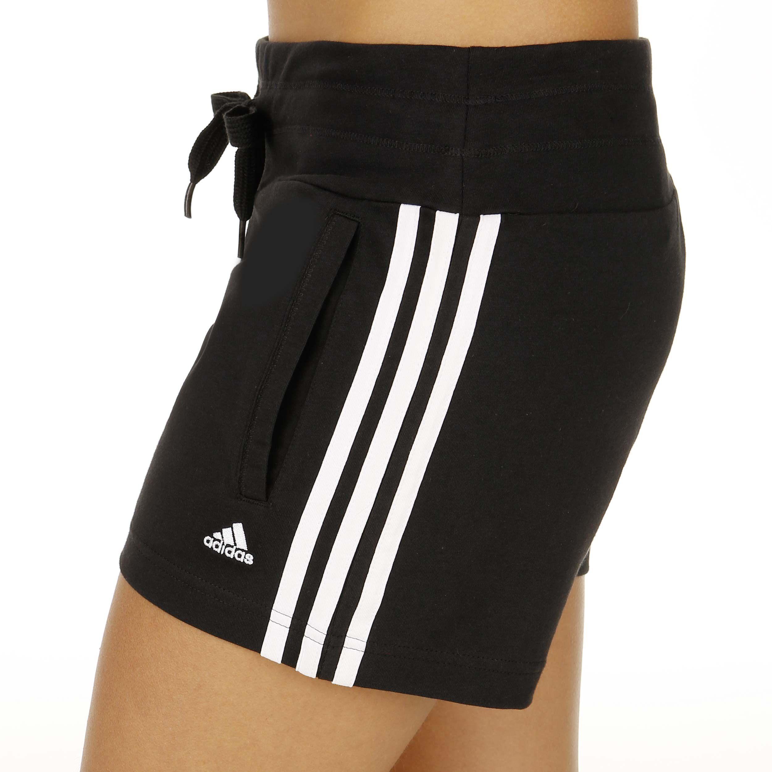 adidas Essentials Essential 3 Stripes Knit Shorts Damen ...