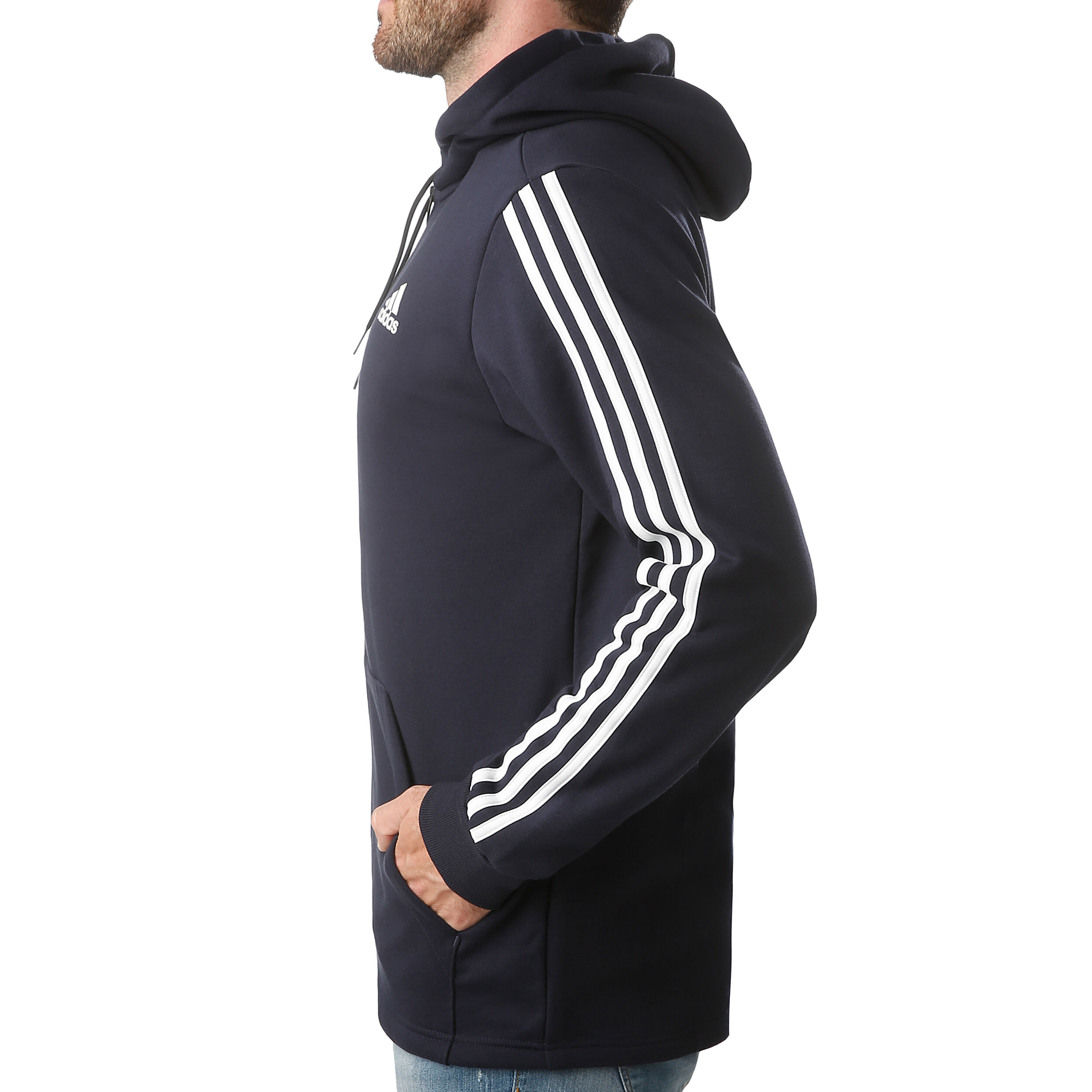 Adidas Must Haves 3 Stripes French Terry Full Zip Hoodie ab