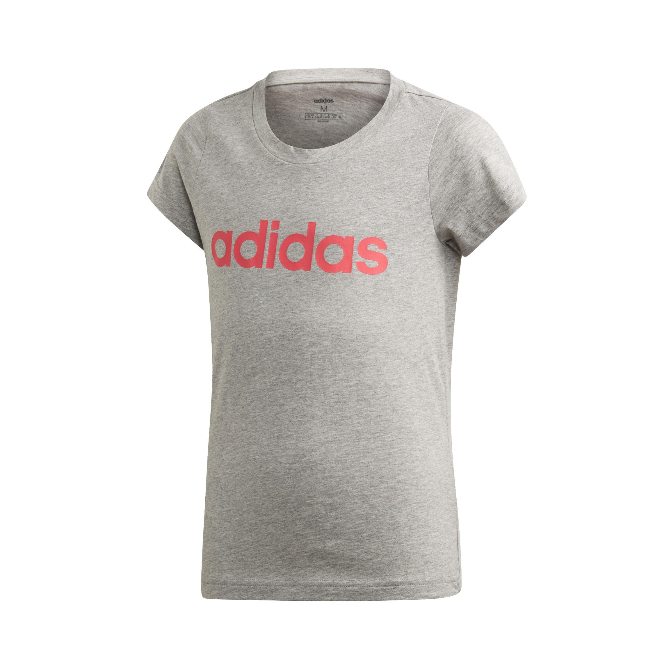 adidas Essentials Linear Sweatshirt Mädchen Hellgrau, Pink