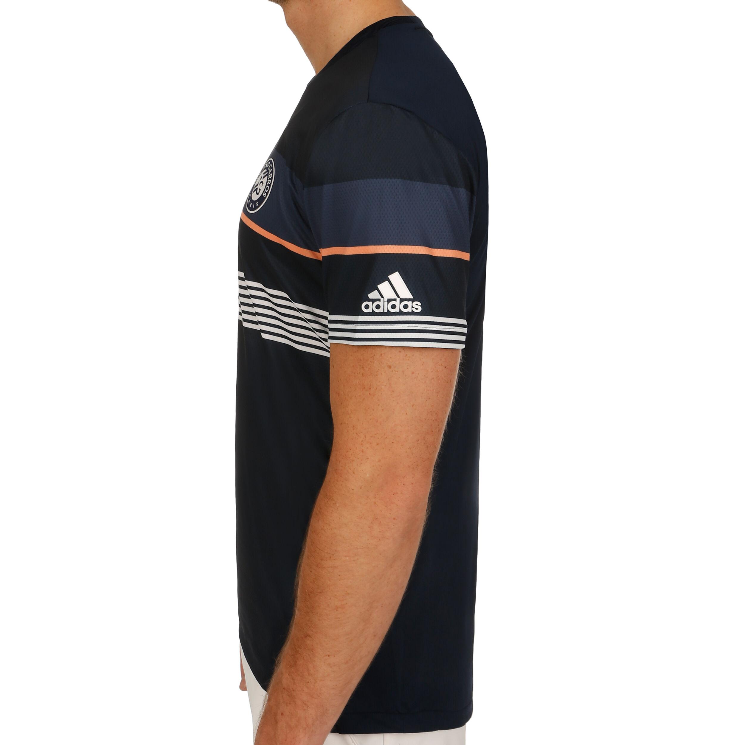 adidas Roland Garros T Shirt Herren Dunkelblau, Blau