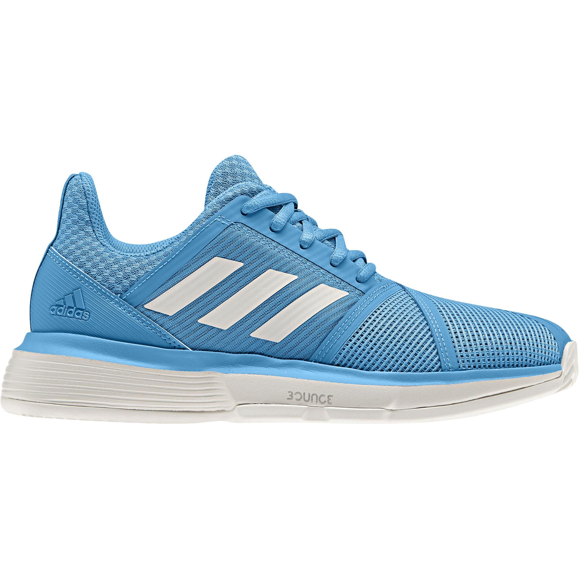 adidas Court Jam Bounce Clay Sandplatzschuh Damen - Hellblau, Weiß