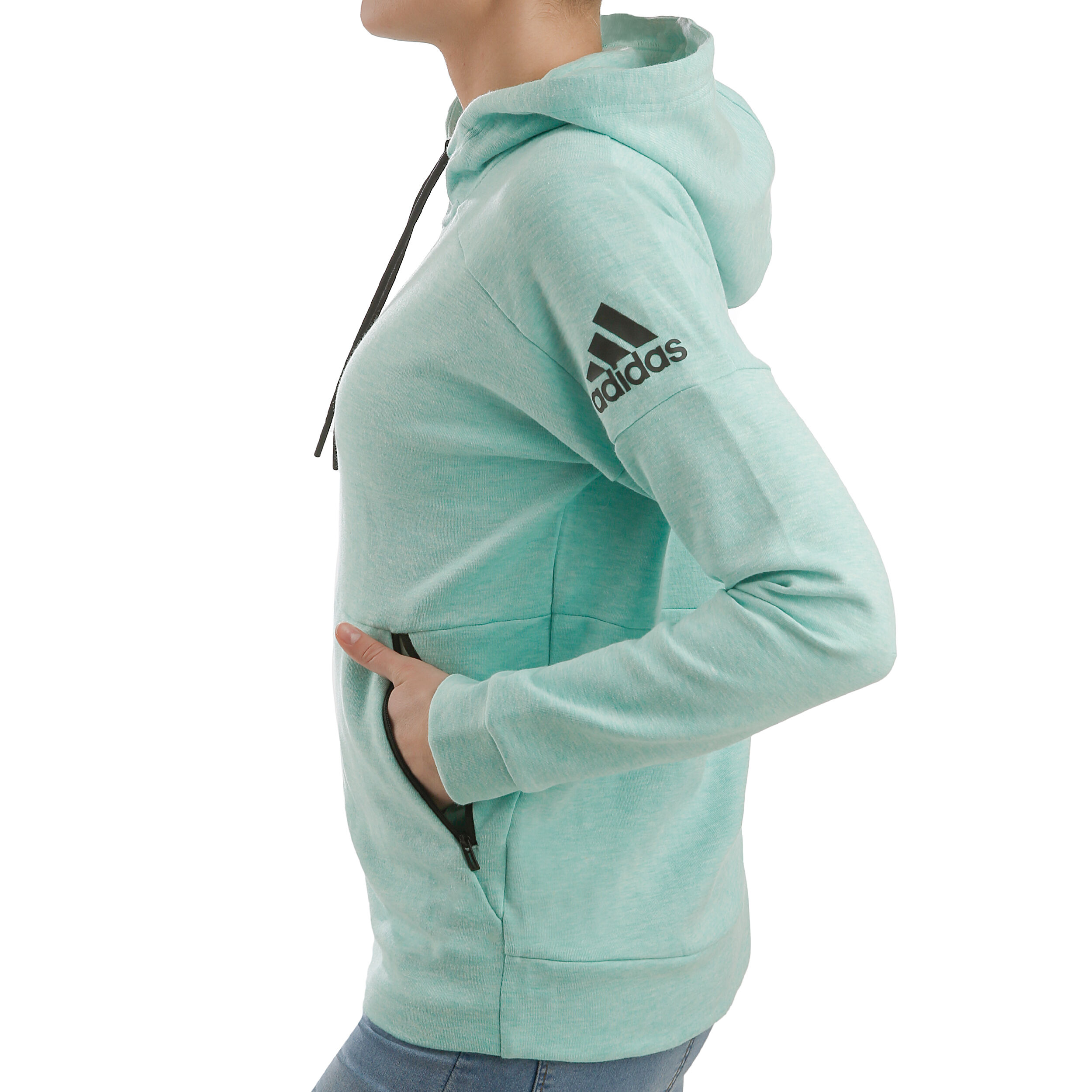 adidas ID Stadium Hoody Damen Mint, Schwarz online kaufen