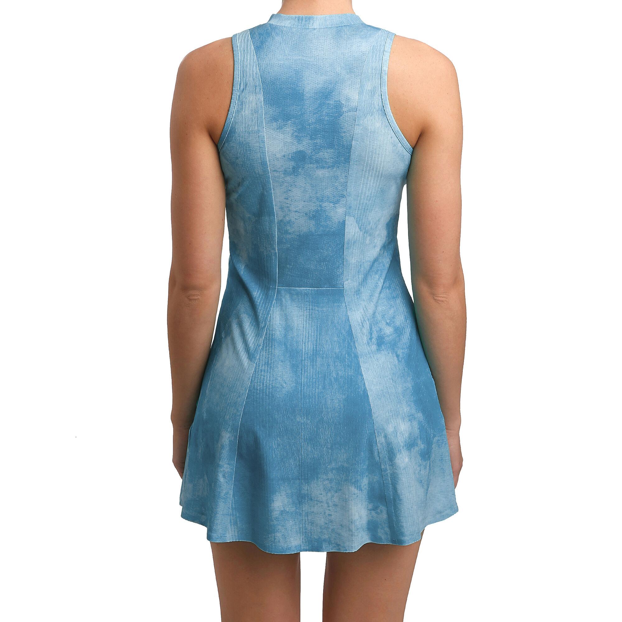 Nike Court Dri-FIT Maria Printed Kleid Damen - Hellblau ...