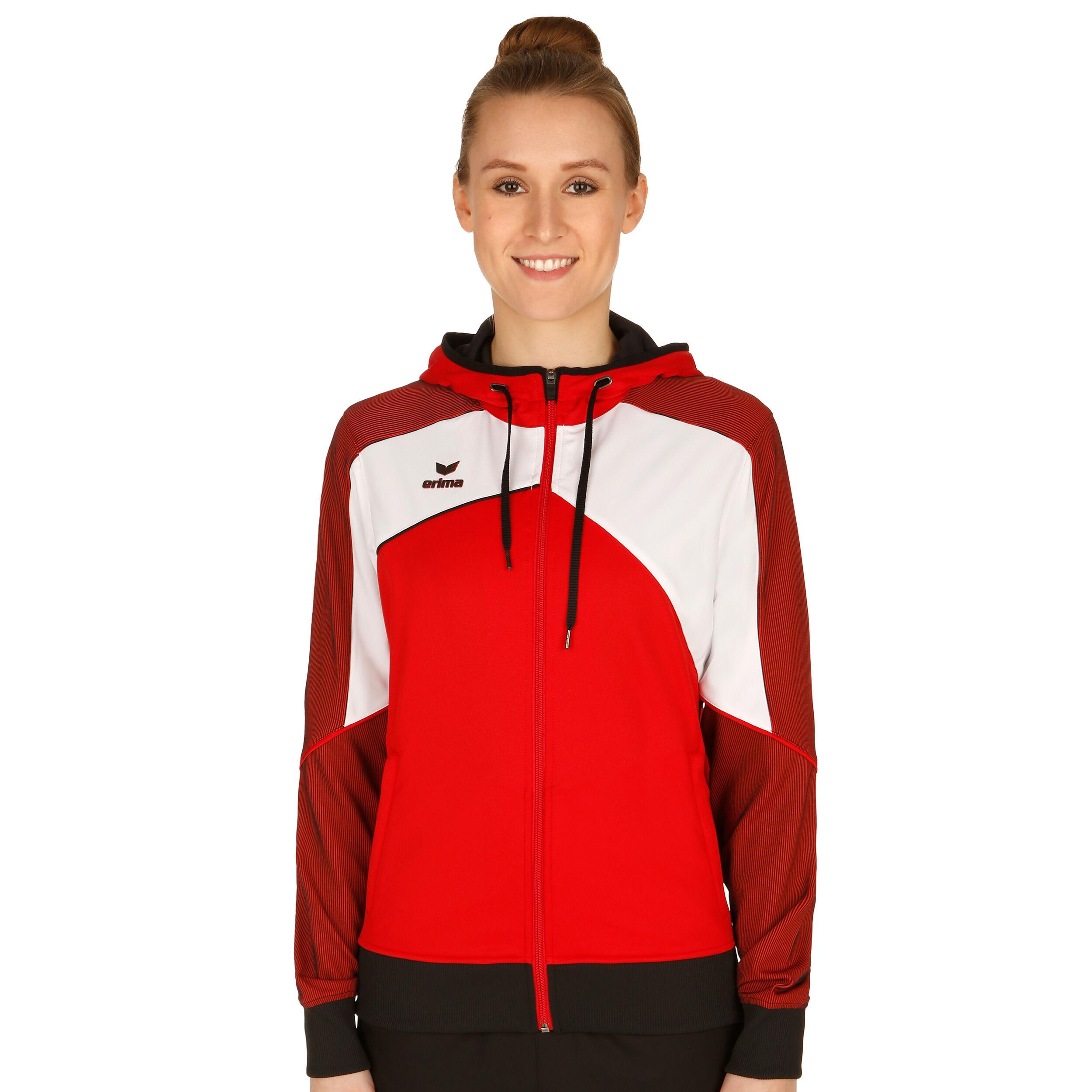 Erima Premium One 2.0 Trainingsjacke Damen Rot, Weiß