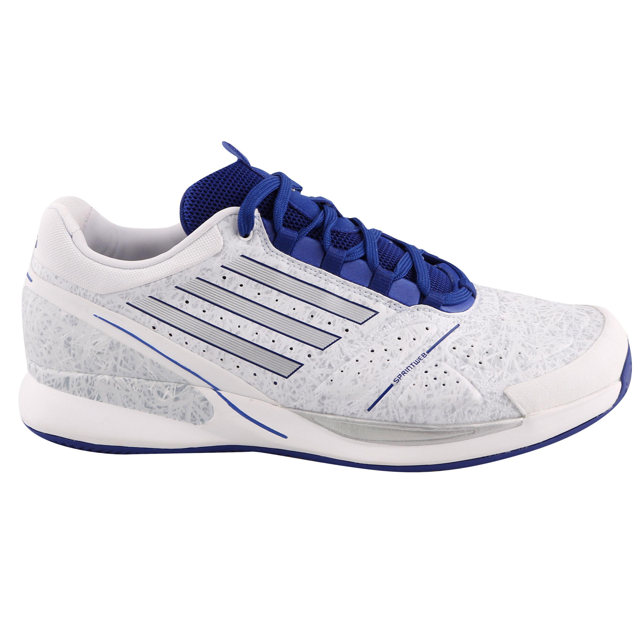 ADIDAS ADIZERO FEATHER II Herren Tennis Schuhe 49 13 Silber