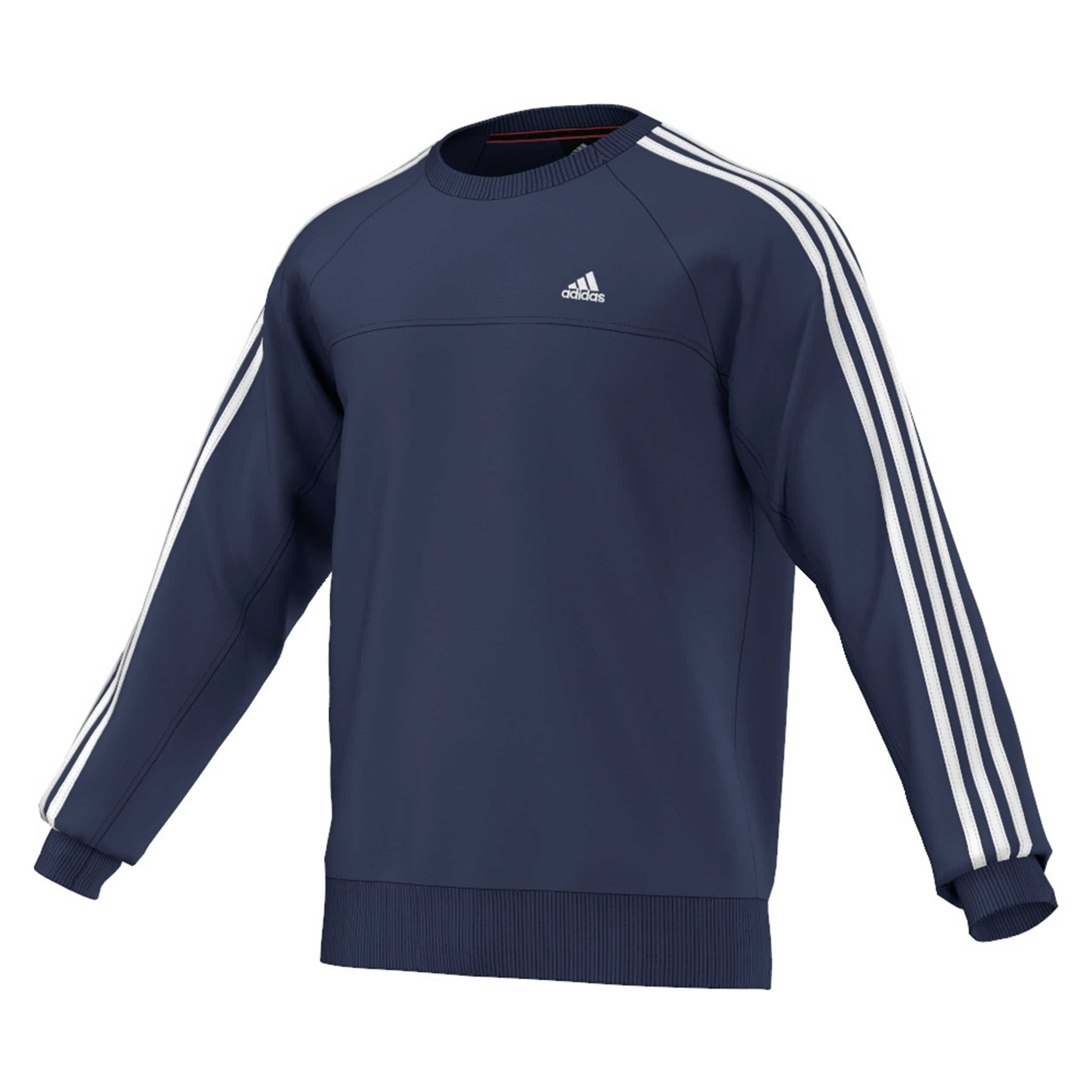 adidas Essentials Essential 3S Crew Sweatshirt Herren