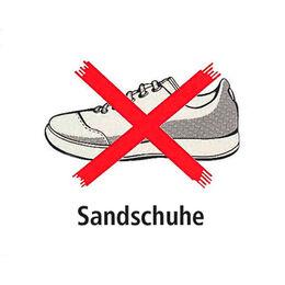 Schild Sandschuhe verboten