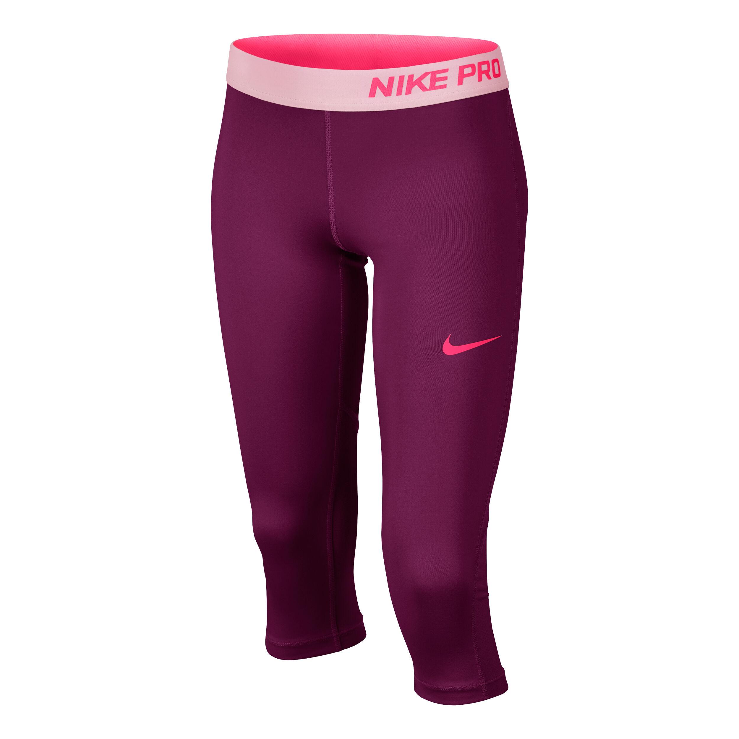 Nike Pro Capri Hose Mädchen Lila, Rosa